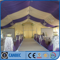 extendable frame wedding roof lights tent with chairs