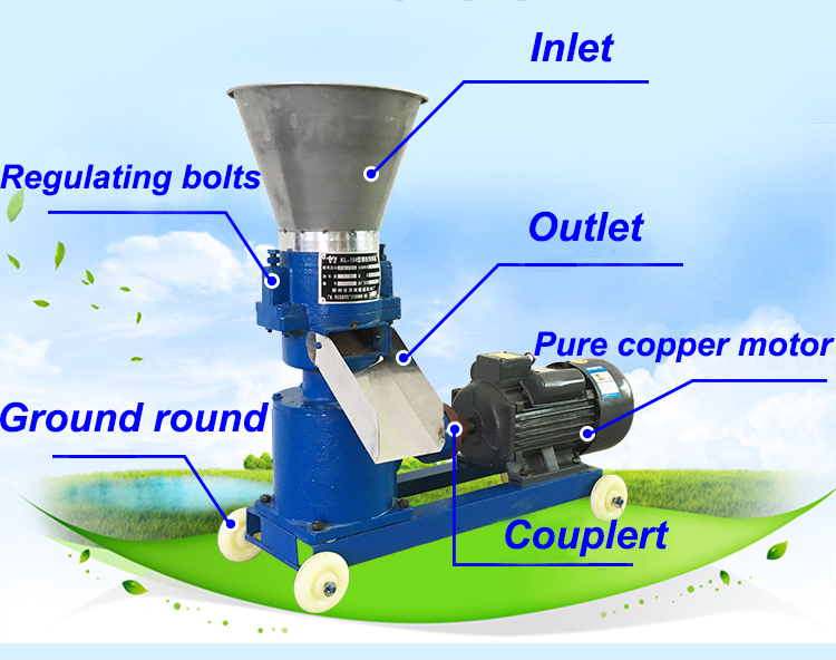 animal feed pellet machine price/mini pellet press/feed pellet equipment