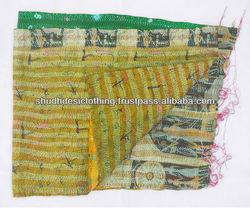 tropical kantha scarves/stoles/shawls