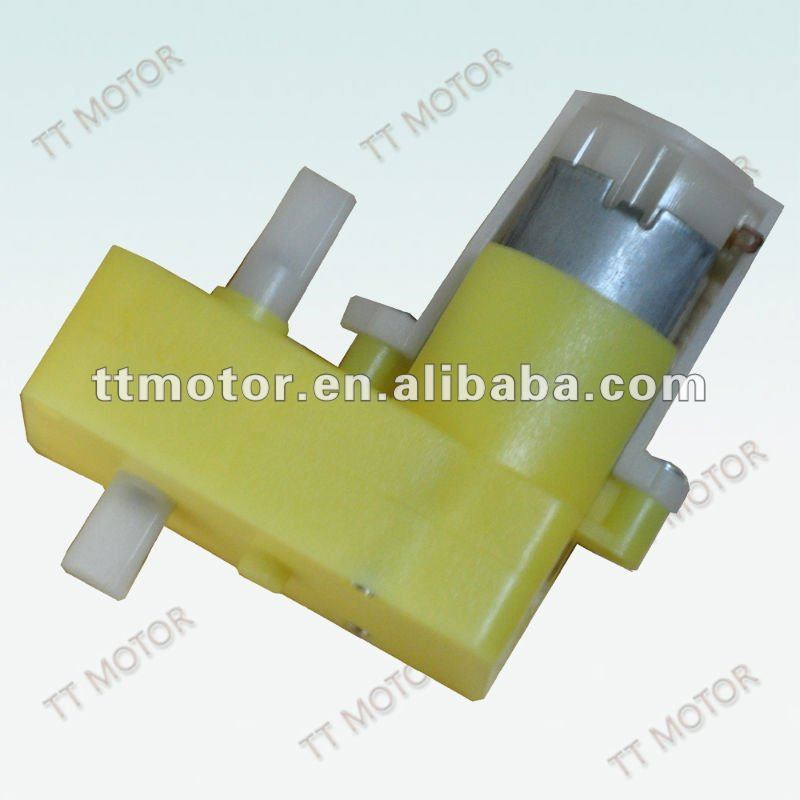 Double the shaft plastic gear motor of TT Motor of .21 motor