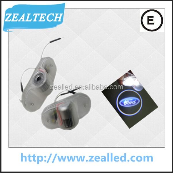 Factory Whole sale 3W C.REE Chip 3D Laser LED Welcome door Light wth Logo for FOR.D