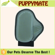 Convenient palm-sized pet bath brush/ pet grooming glove/pet brush glove