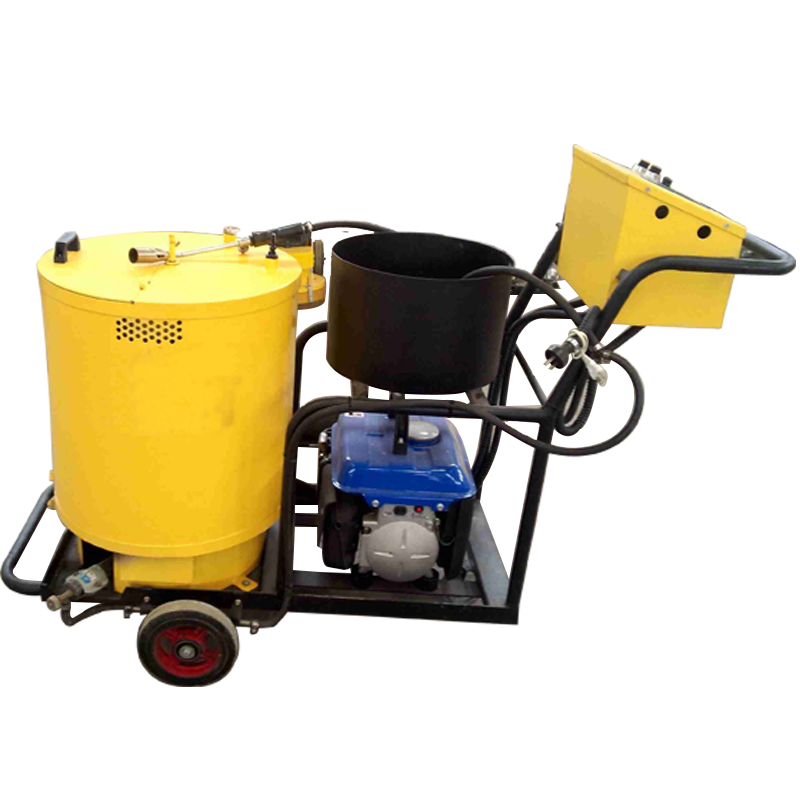 Hand push joint filling melter asphalt crack sealer