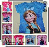 New Girl T Shirt Frozen Elsa & Anna & Olaf Clothes Fashion short sleeve Children T Shirt for children t shirts