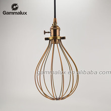 2015 Hot Old Pendant Lights Decor Your Entry and Corridor Bronze Iron Cage Popular Hanging Lamp