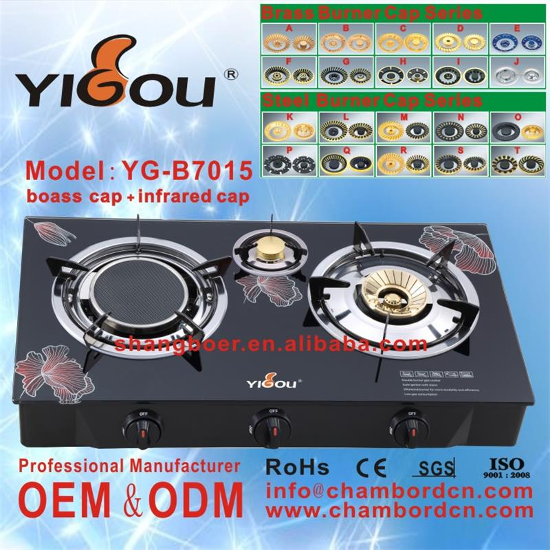 YG-B7015 royal gas stove kitchen <strong>appliances</strong> in dubai with 2 3 4 5 6 burners