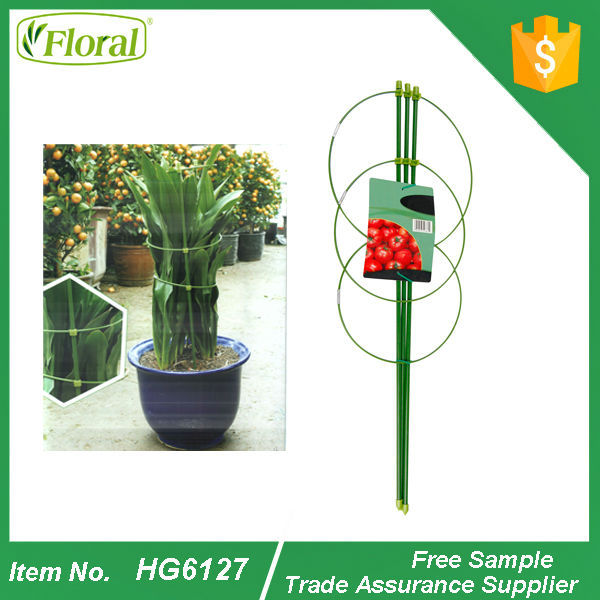 metal garden flower support