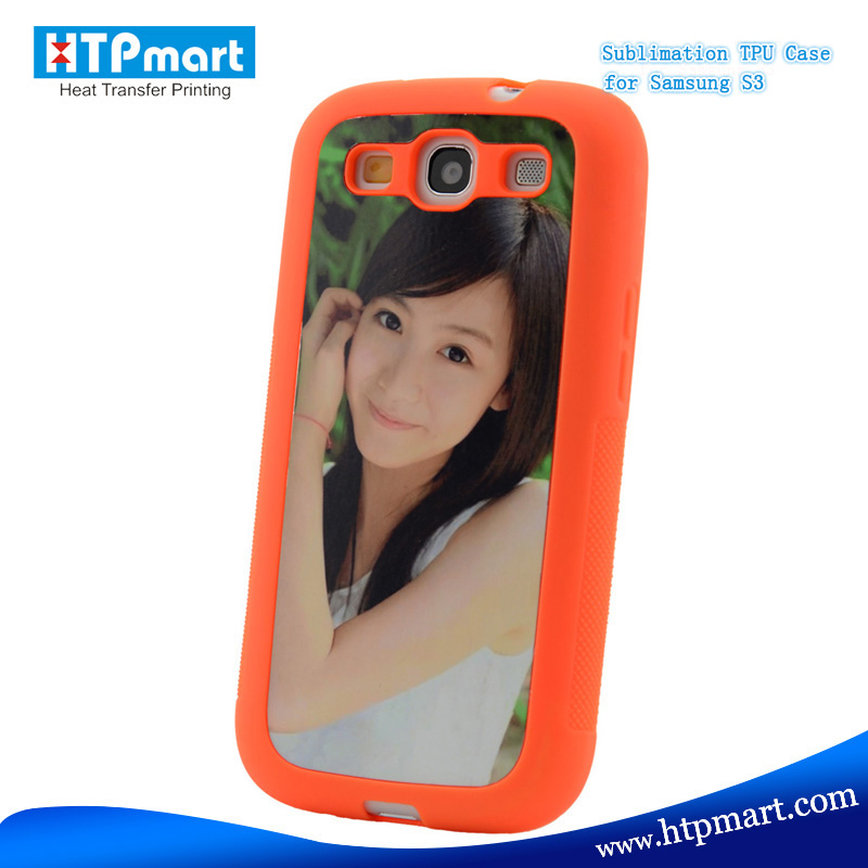 2015 wholesale sublimation blank unique pc tpu mobile phone case for samsung S3 i9300