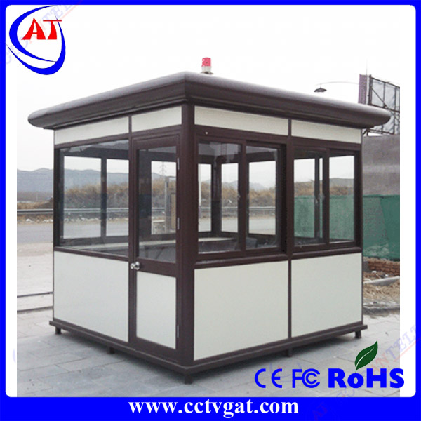 Outdoor durable steel structure mobile food kiosk shop container for park / street
