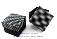 2012 fashion and beautiful black paper ring box