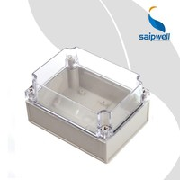Saip/Saipwell European Type Clear Project Enclosure Clear Electrical Junction Box Plastic Enclosure for Electronic PCB