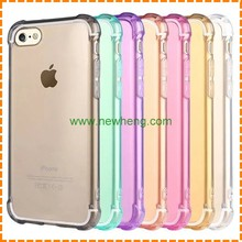 New arrival Four Corners Anti-drop TPU+Acrylic Crystal Clear Transparent Hard case for iphone 7