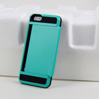 detachable card holder armor hard back cover case for iPhone 5/5s