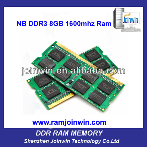 Lifetime warranty so dimm 8gb DDR3 1600 MHz RAM 204 pin