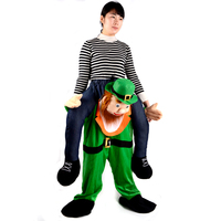 2017 New Arrival Factory Direct Sell Carry Me beer Guy Costume/ Bavarian Beer Guy Ride on Mascot Costume