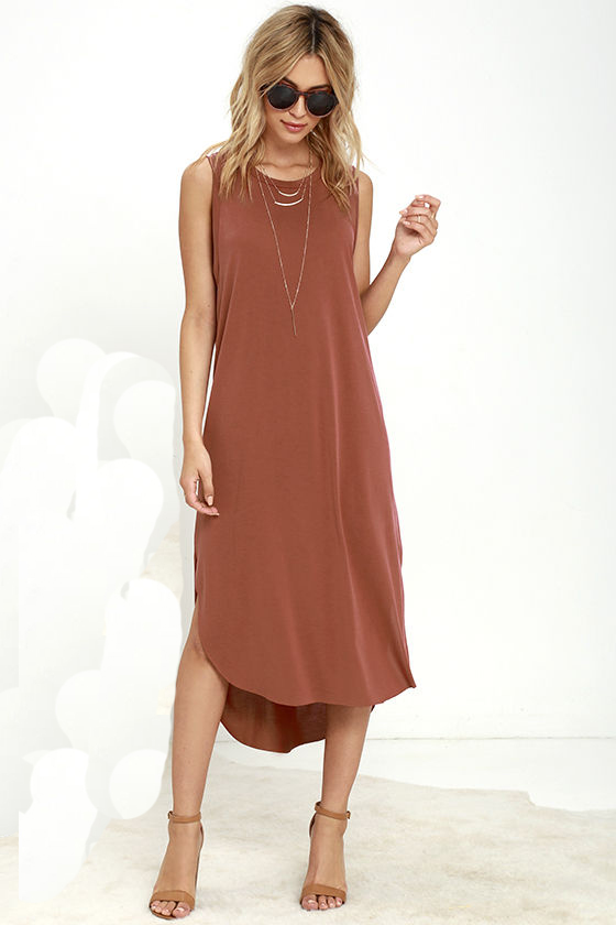Women sleeveless high-low design summer dress wholesale breezy cool causal dress