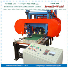 Multiple heads electric portable wood timber harvester band sawmill