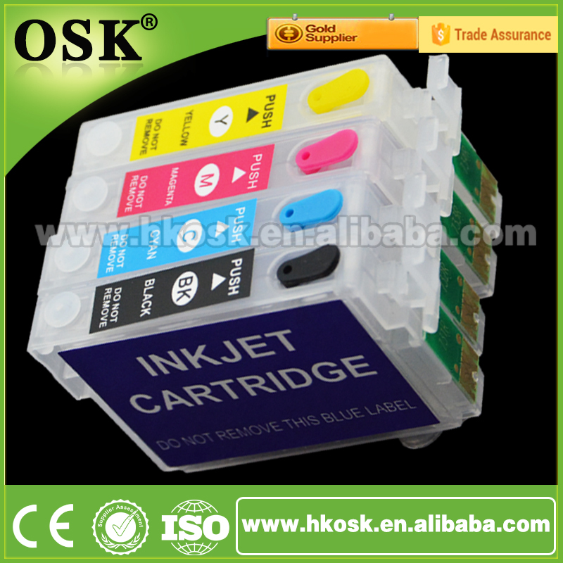 T0711 Printer cartridge for Epson Stylus DX5000 DX4050 DX4000 Refill ink cartridge with New Chip