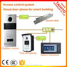Best selling building Touch screen gsm apartment door phone wifi with zigbee home automation fuction