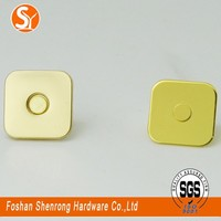 high end bags and luggage accessories decorative square 18*2mm strong magnetic snap button from China supplier