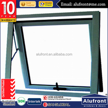 AS/NZS2047 AS/NZS2208 & AS/NZS1288 certified aluminium awning window top hung window/double glazed windows for soundproof