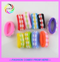 Newest design mixture colour soft hairband elastic hair accessory ponytail holders