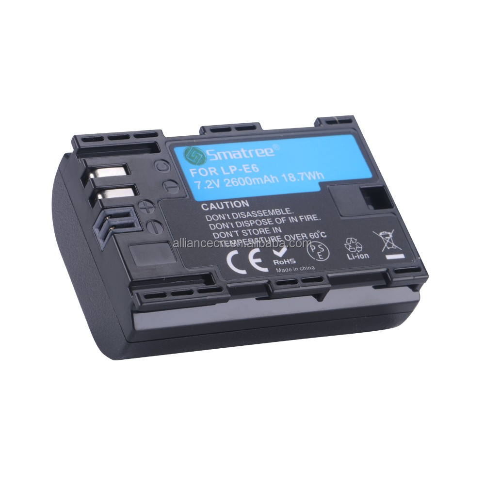 Smatree for Canon LP-E6 digital camera battery