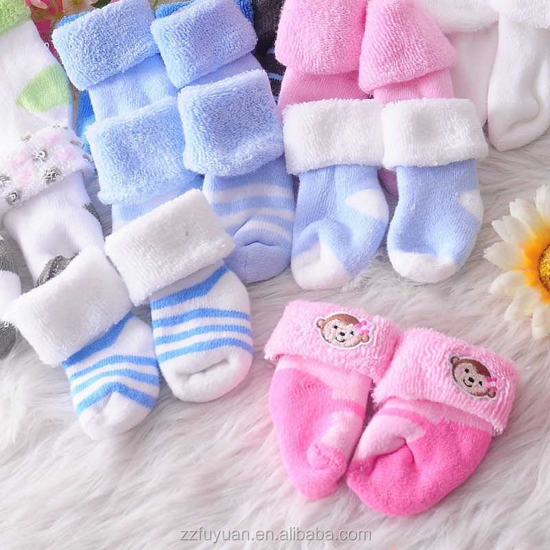 Wholesale lot of baby terry socks, top quality no tight infant socks fit winter