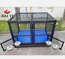 Big Commercial Pink Iron Dog Cages Singapore Sale