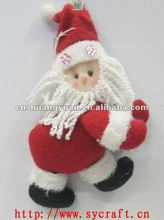15cm plush santa ornaments