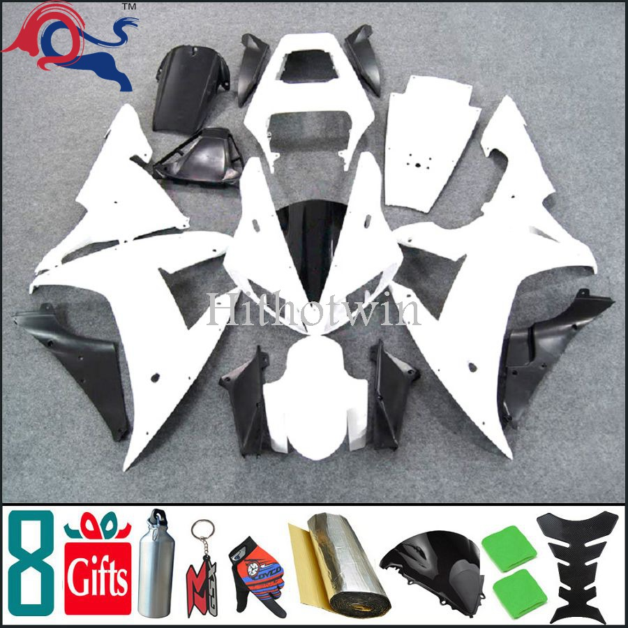 2002 2003 YZFR1 white YZF-R1 2003 2002 Custom Fairing Fit For yamaha YZF R1 2002 2003