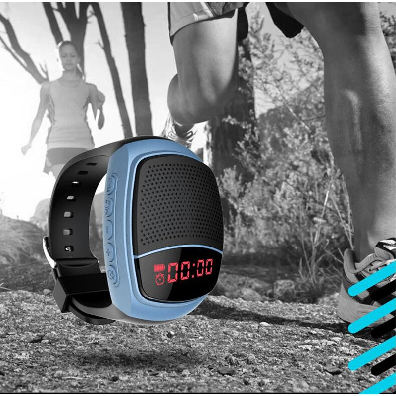 B90 Smart Watch Sports Digital Watch Speakers Hands-free FM Radio Anti-Lost Portable Bluetooth Music Speaker With LED Display