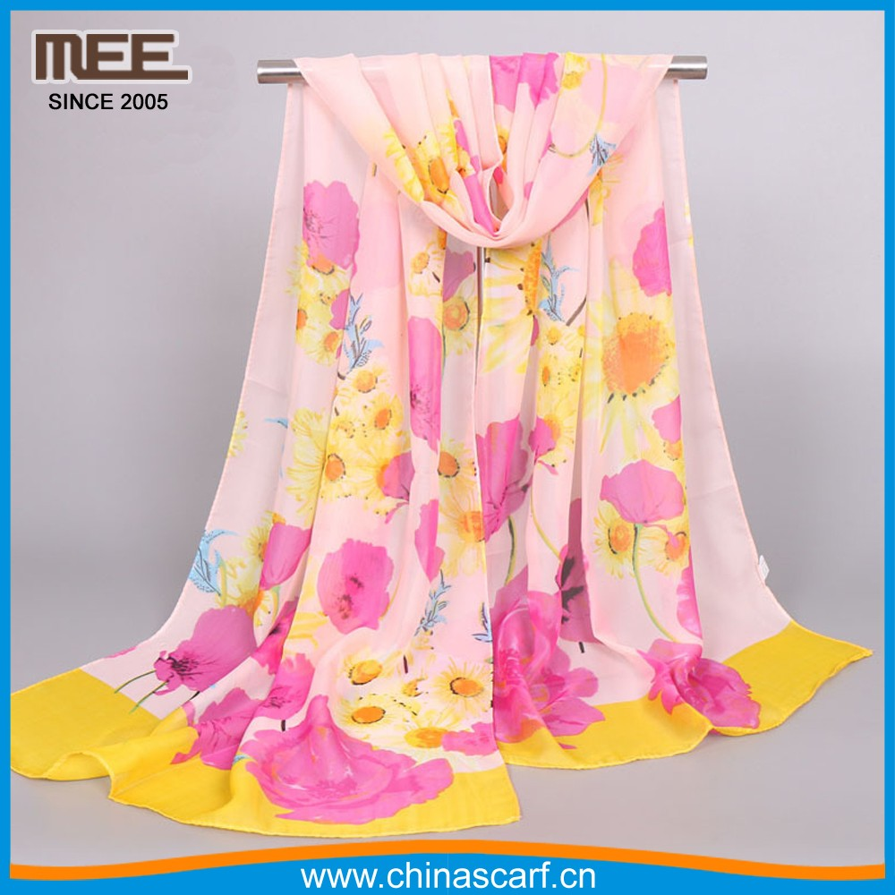 Newest style rose painting 2016 Scarf as gift meaning