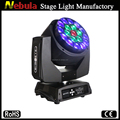 19x12w led big bee Eye moving head lighting/DJ Quick rotation moving head