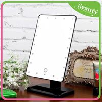 Cordless lighted makeup mirror H0Tdjc standing up mirror