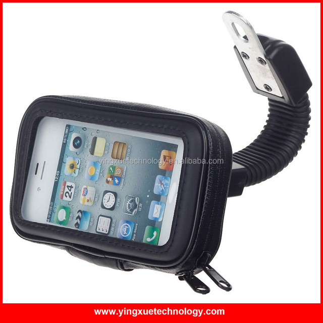 Scooter Motorcycle Mirror Mount Cell Phone Holder Water ResistanceCase for iPhone 6, Samsung S4/S4