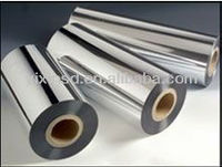 7 microns Metallized PET film for producing silver and golden papers