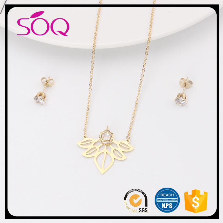 Hot selling imitation saudi dubai imitation jewelry 18k jewellery sets gold plated