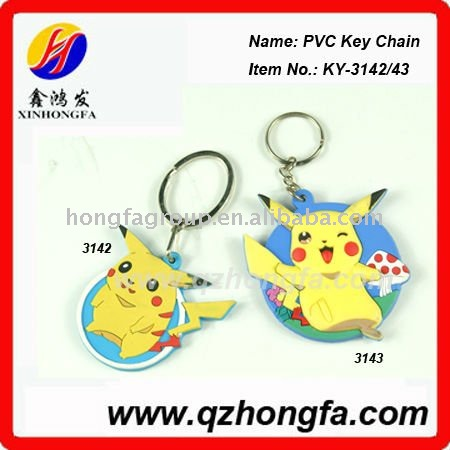 Cartoon Figure 3d PVC Key Chain