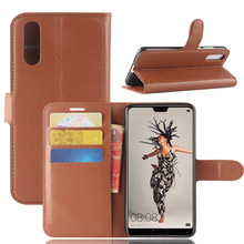 Factory Price Lychee Pattern PU Leather Flip Case for Huawei P20 with Card Slots inside