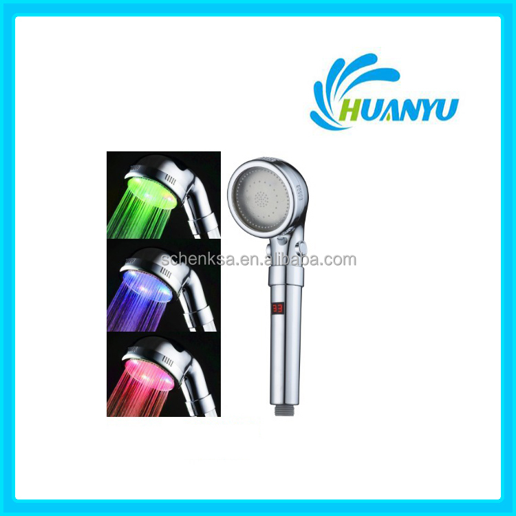 HY807 Bathroom waterfull hand LED shower head