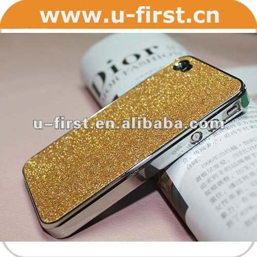Glitter Bling pearl Shining plastic Case for Apple iPhone 4 4s 4g cell phone Hard back Cover accessories