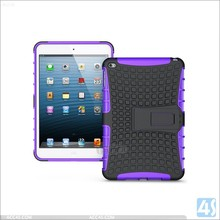 Low price Silicone PC Shockproof Kickstand Hybrid Cover Case for iPad Mini 4
