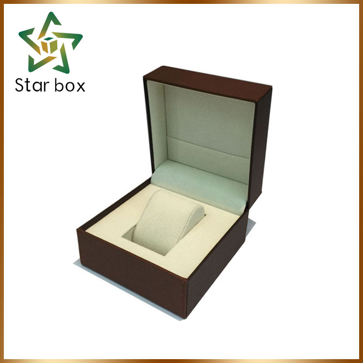 Quality pu plastic men watch gift box watch packaging case