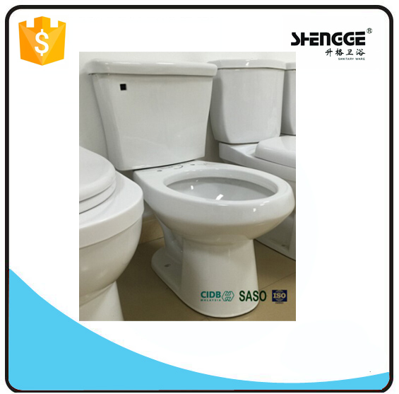 SF01 Instock single flush ceramic two piece toilet