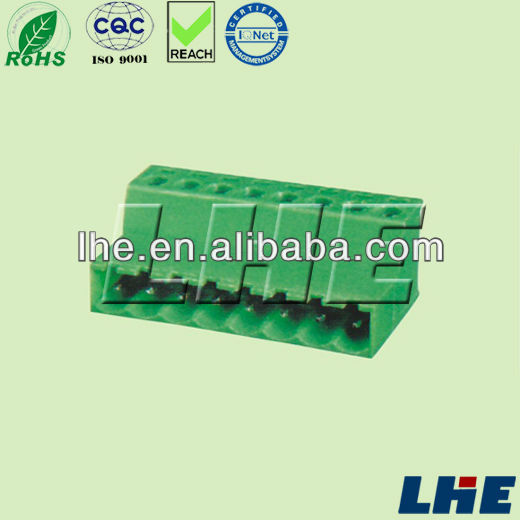 PCB pluggable terminal block 5.0mm pitch female terminal block