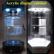 Professional custom acrylic showcase PMMA display case organic glass jewelry cabinet products reveal ark