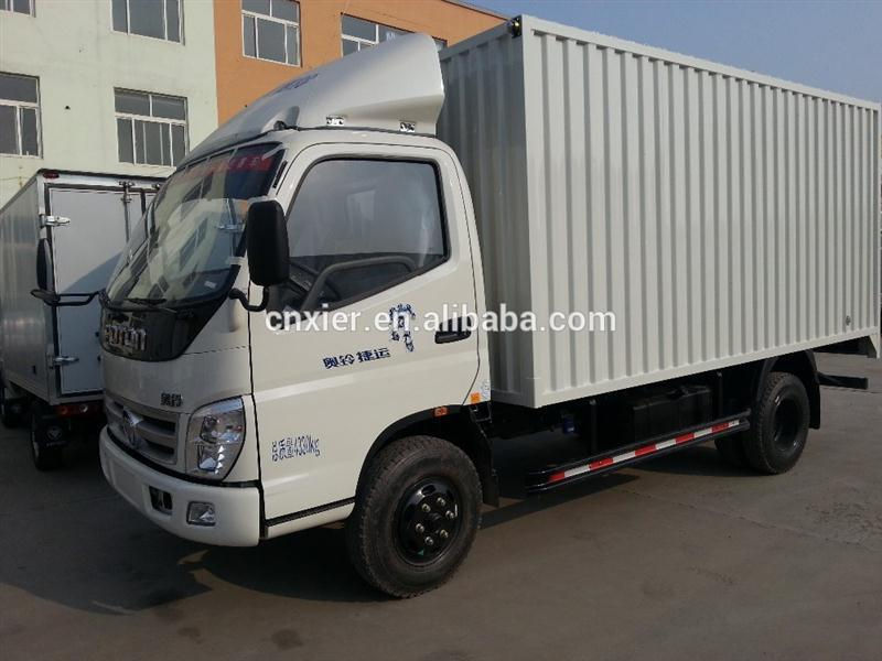 refrigerated box truck for sale/ light fresh meat trucks incity dry cargo van