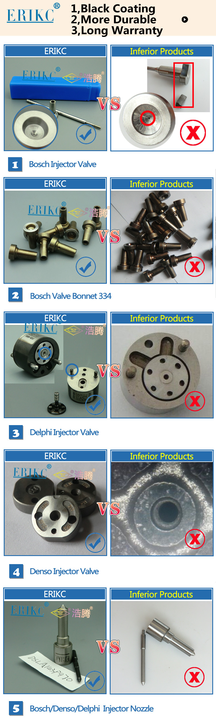 Factory 095000-650# diesel pump injector valve rod 095000650#,denso oil injector valve rod 095000 650#