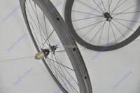 New arrival good price!!Full Carbon Road Wheel Bicycle 38mm clincher/tubular Wheel 700C with Powerway hubs